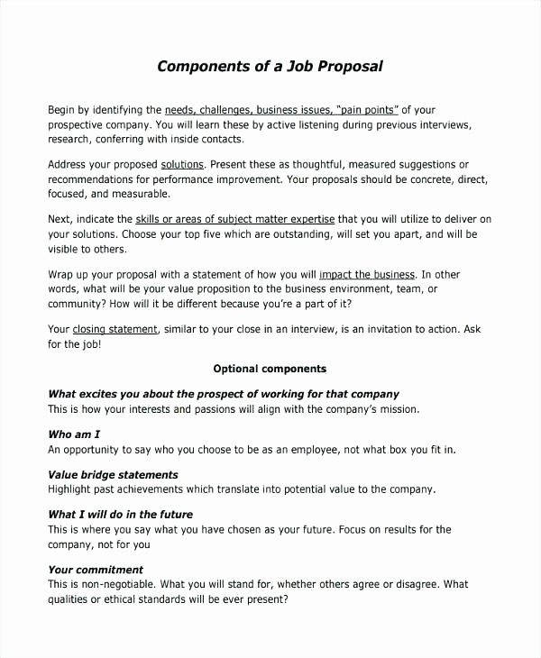 New Position Proposal Template – Buildingcontractor