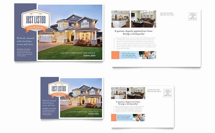 New Property Postcard Template Design