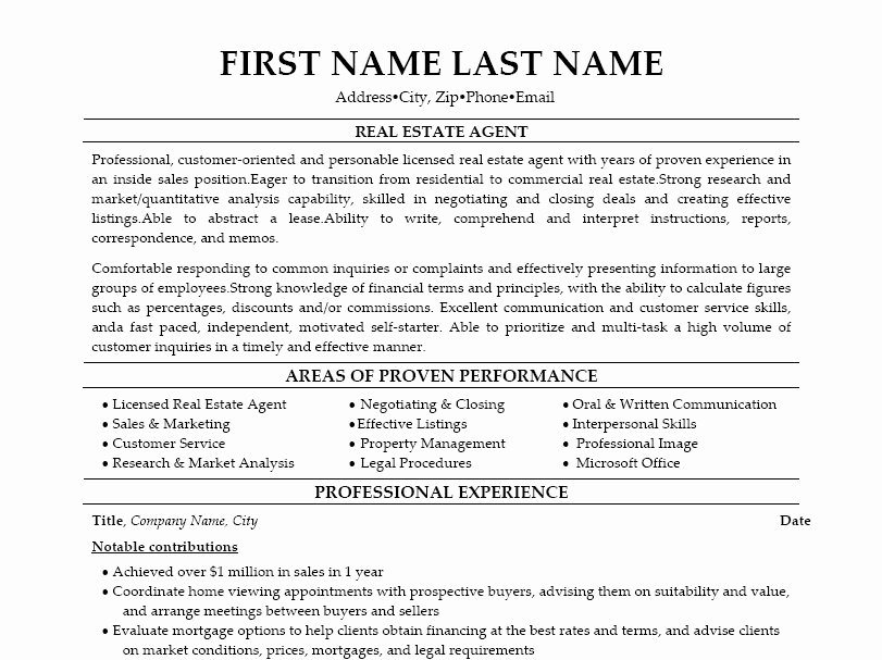 new real estate agent resume sample  u2013 latter example template