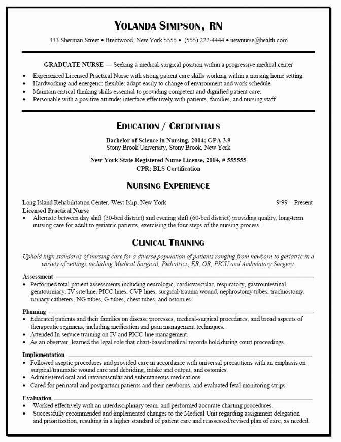 New Rn Grad Resume Best Resume Collection