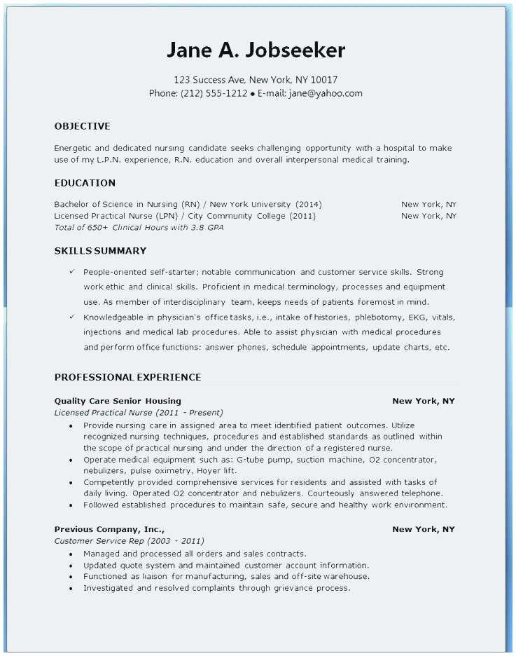 New Rn Resume Beautiful Sample Grad Latter Example