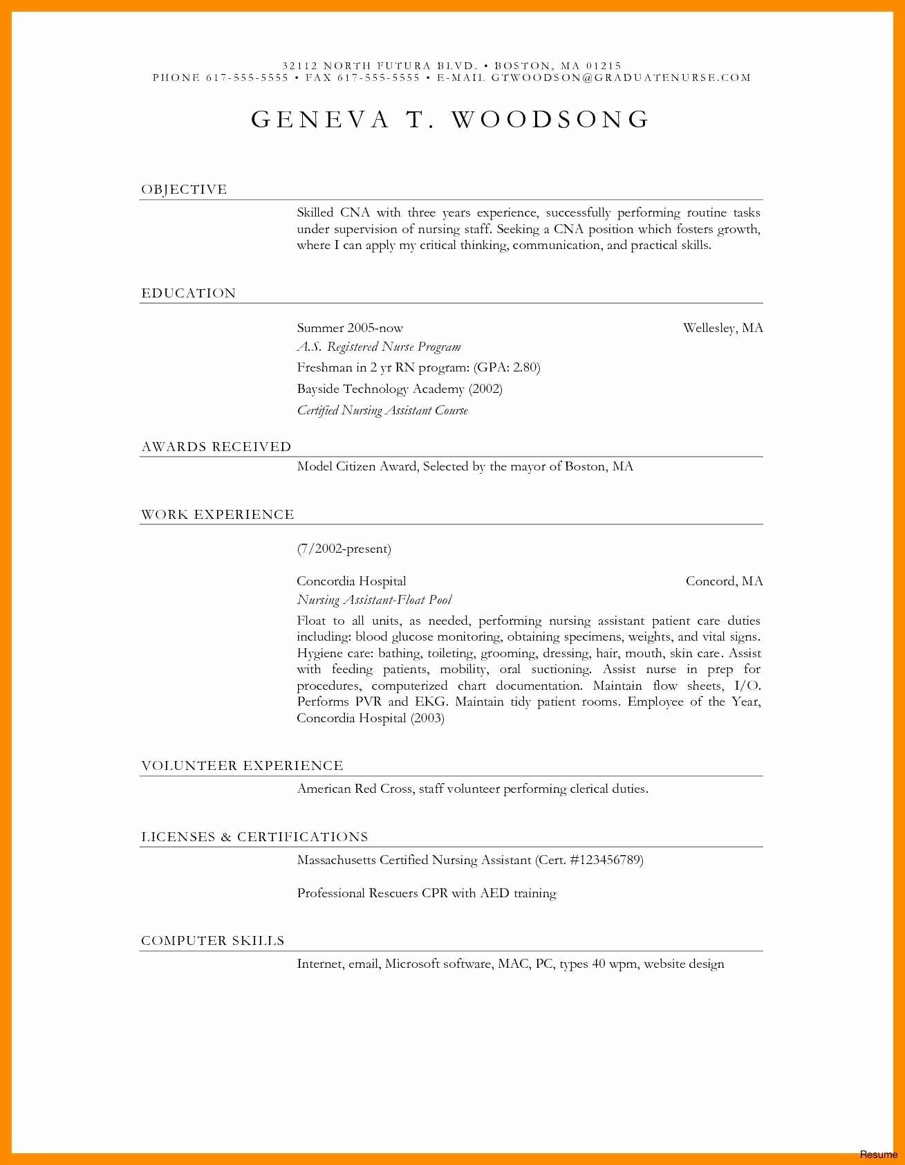 New Sample Resume Cover Letter Nurse Educator