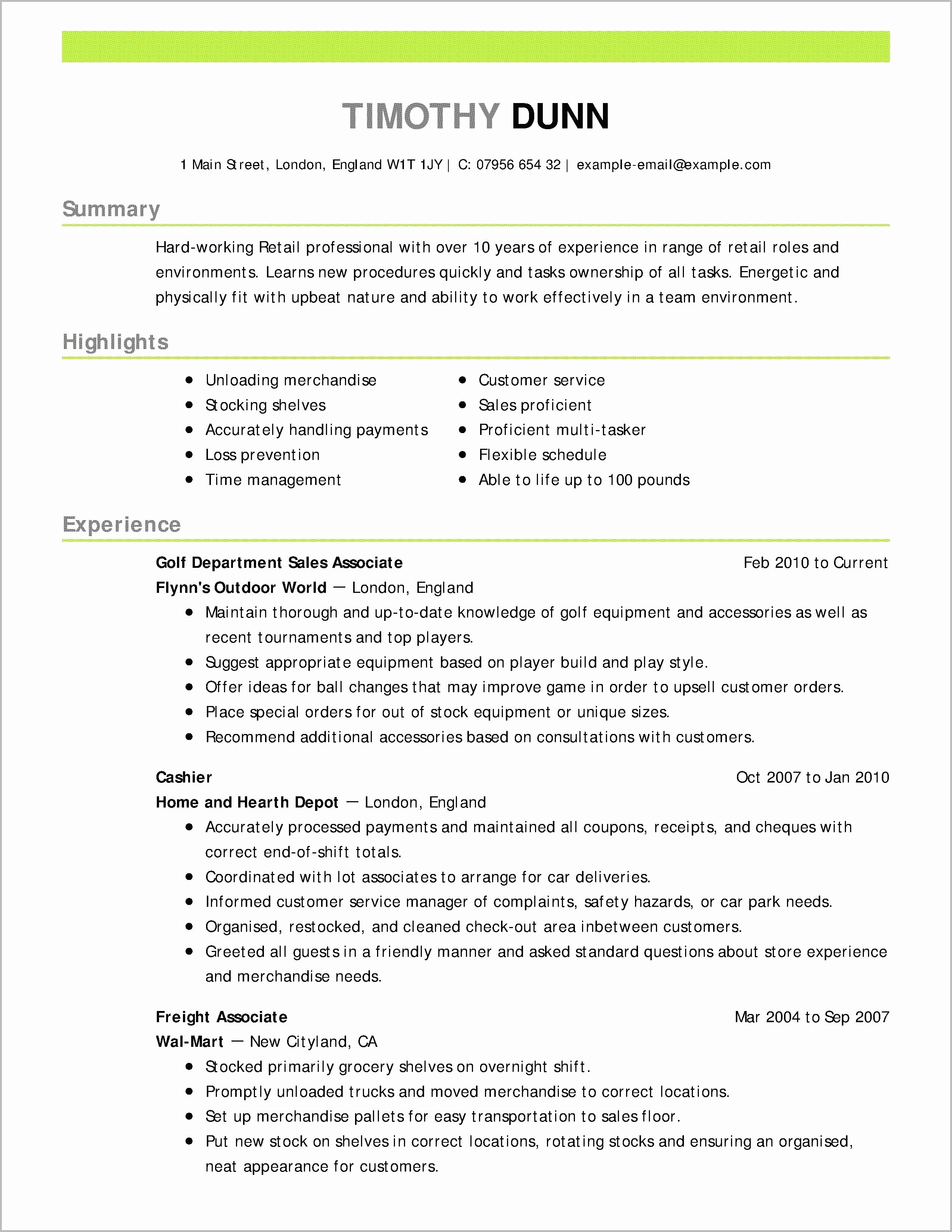sample resume objectives career change