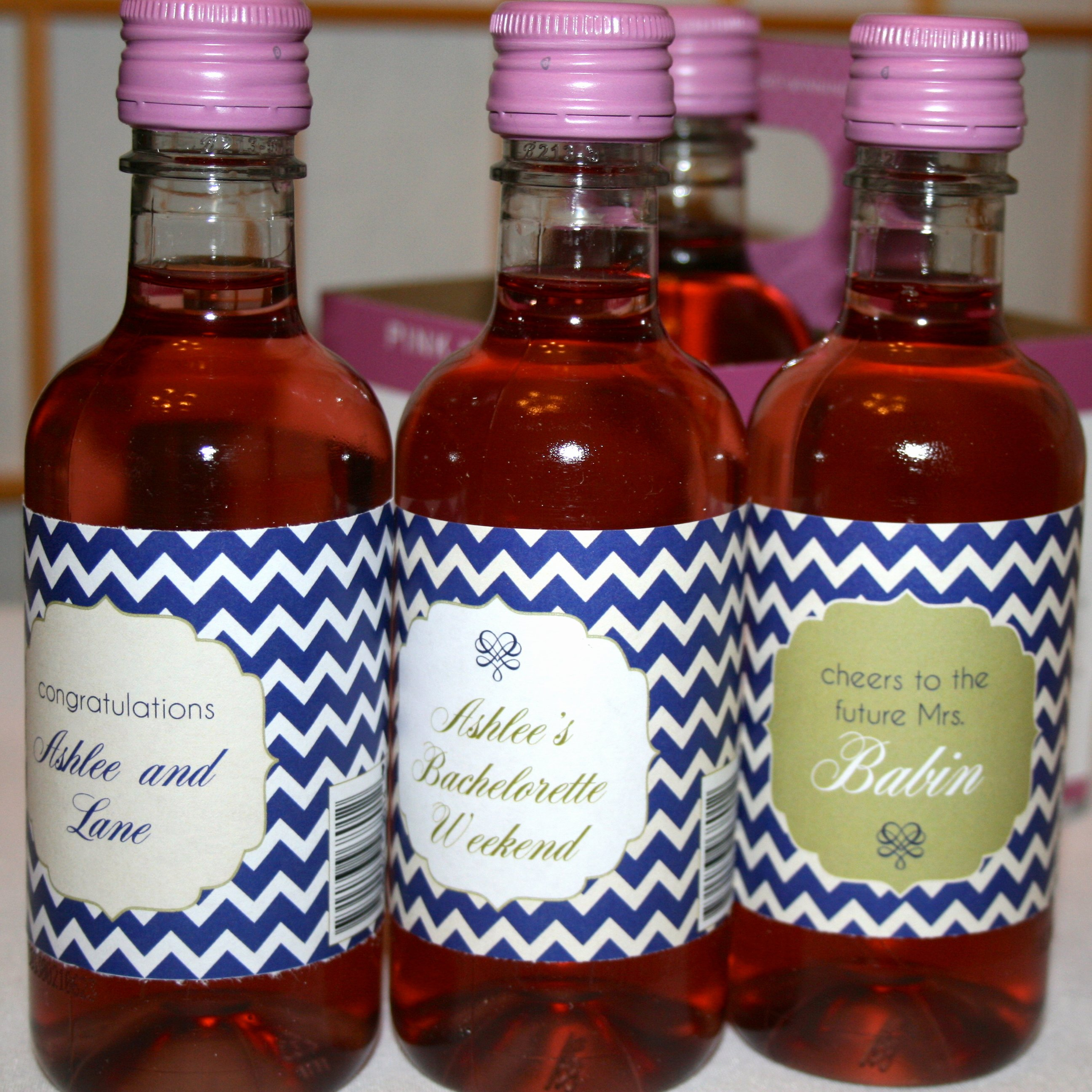 New to the Store Personalized Labels for Mini Wine