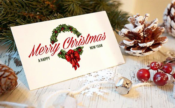 New Year Card Template Shop – Merry Christmas & Happy