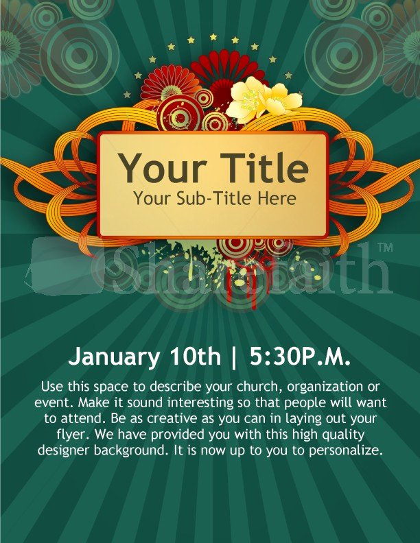 New Year Church event Flyer Templates Template