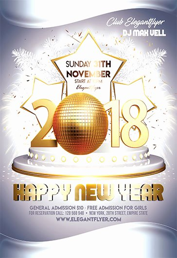 New Year Eve – Free Flyer Psd Template – by Elegantflyer