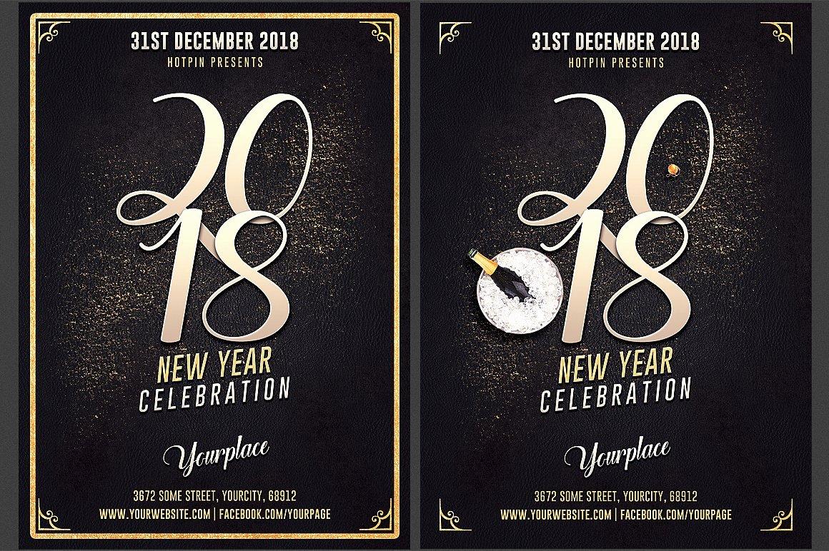 New Year Eve Invitation Flyer Flyer Templates Creative
