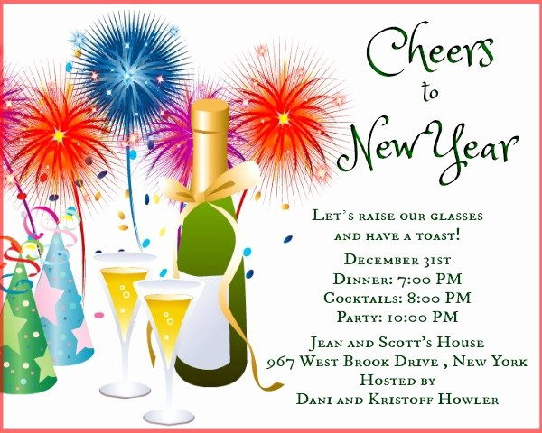 New Year Invitation Wording Funny New Year Party