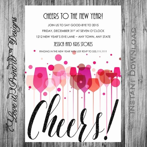 New Year S Eve Party Invitation Diy Template Cheers New