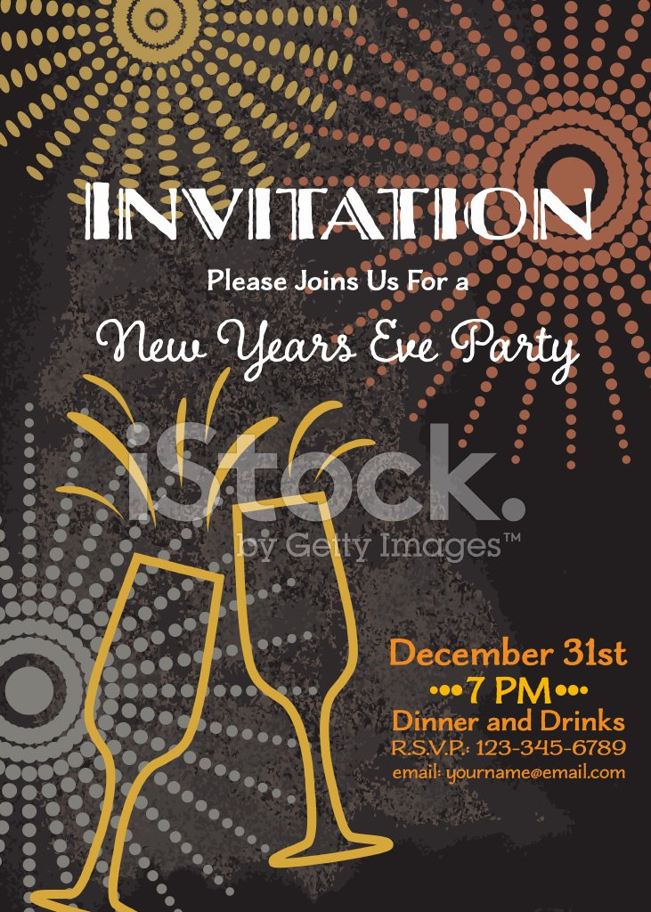 New Year S Eve Party Invitation Template Stock Photos