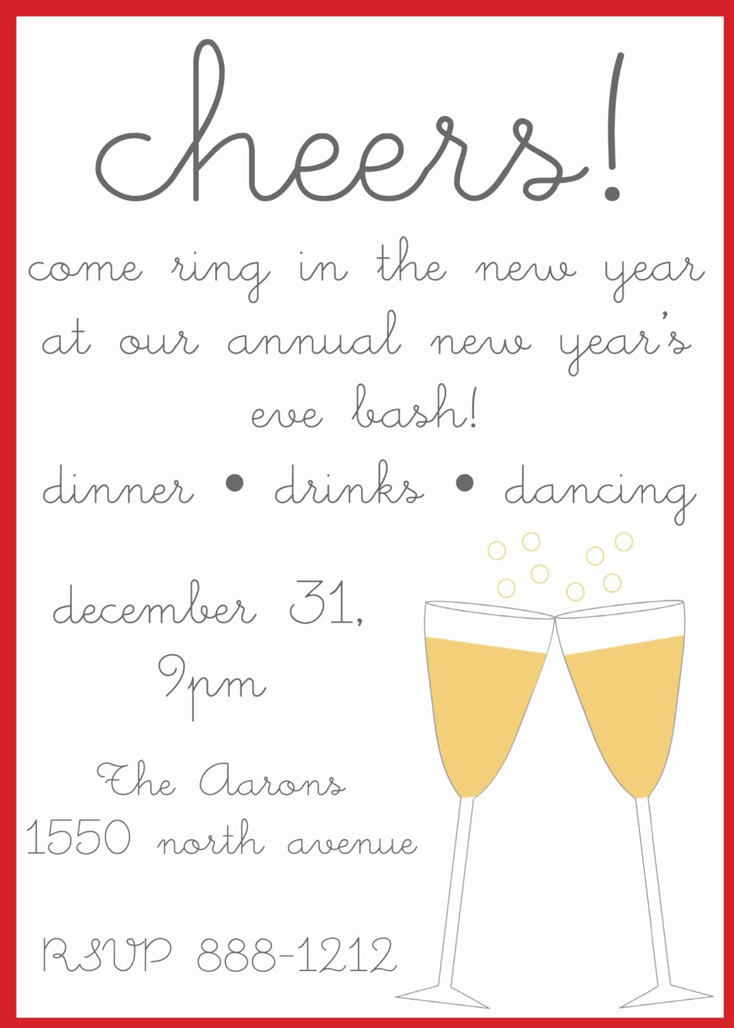 New Year S Eve Party Invitations by Nikkihodum On Etsy