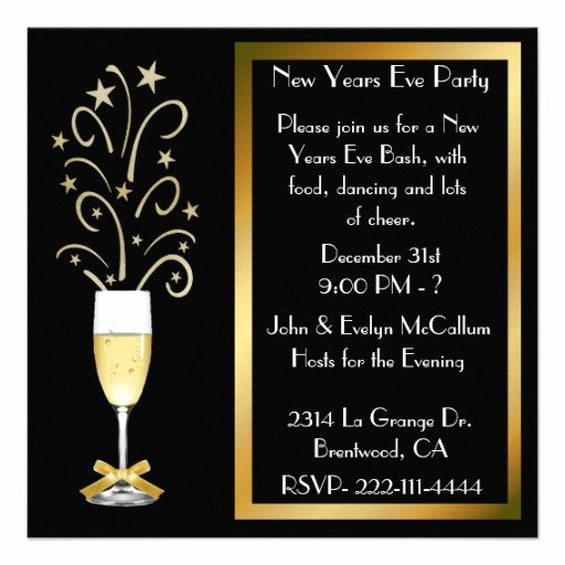 """New Years Eve Party Invitations 5 25"""" Square Invitation"""
