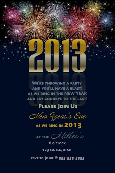 New Years Eve Party Invitations Template
