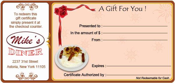 New York City Restaurant Gift Certificates Gift Ftempo