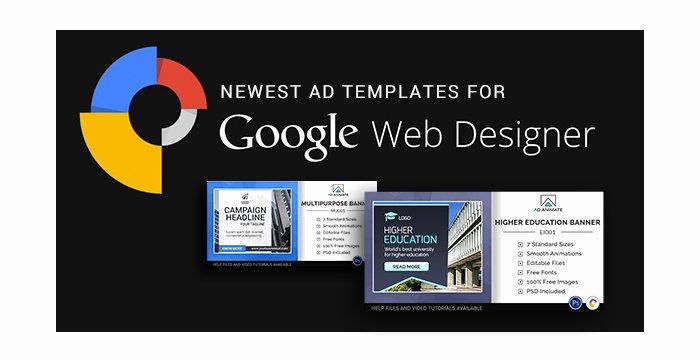 Newest Ad Templates for Google Web Designer software