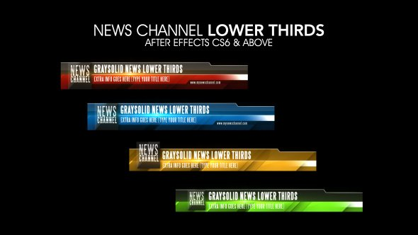 News Channel Lower Thirds after Effects Template