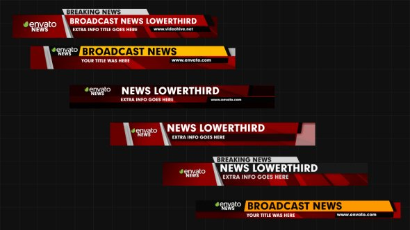 News Lower Thirds Corporate after Effects Templates