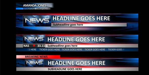 News Lower Thirds News after Effects Templates