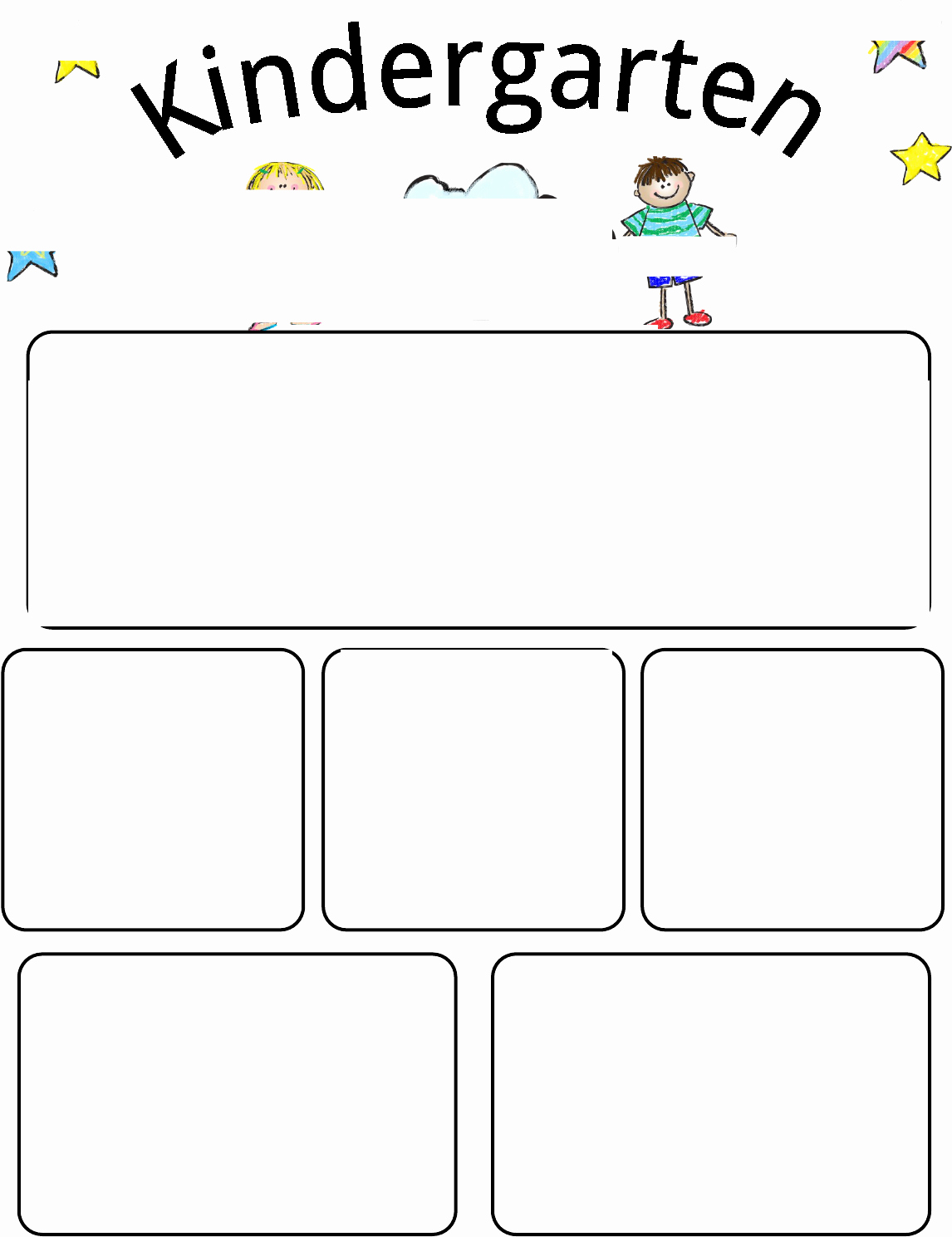Newsletter Kindergarten Newsletter Template