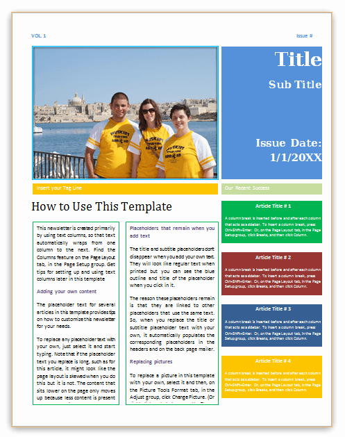 Newsletter Template Word