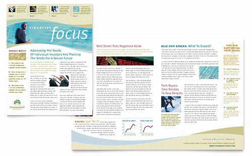 Newsletter Templates Word & Publisher Microsoft Fice