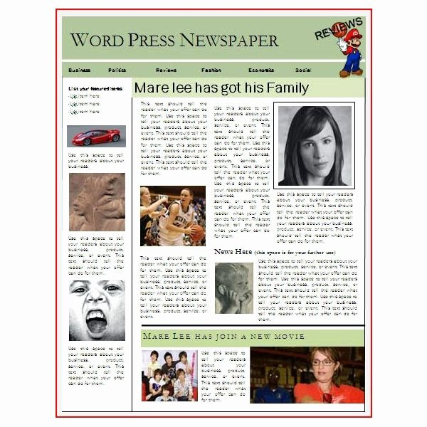 Newspaper Layout Templates Excellent sources to Help You
