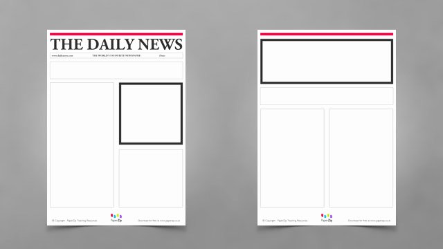 Newspaper Template for Kids