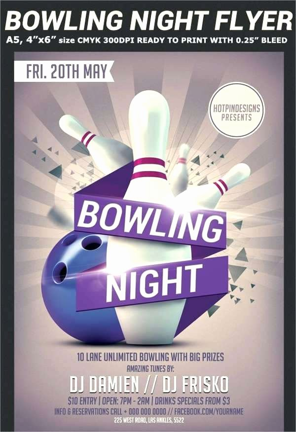 Nice Bowling Flyer Template S Bowling tournament