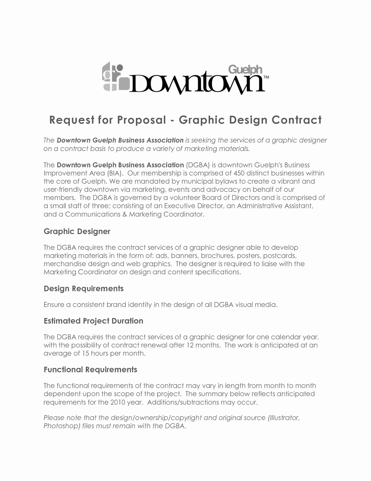 Nice Graphic Design Contract Template Gallery