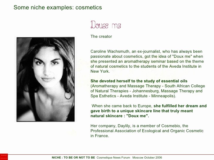 Niche Brands In Cosmetic and Perfumery