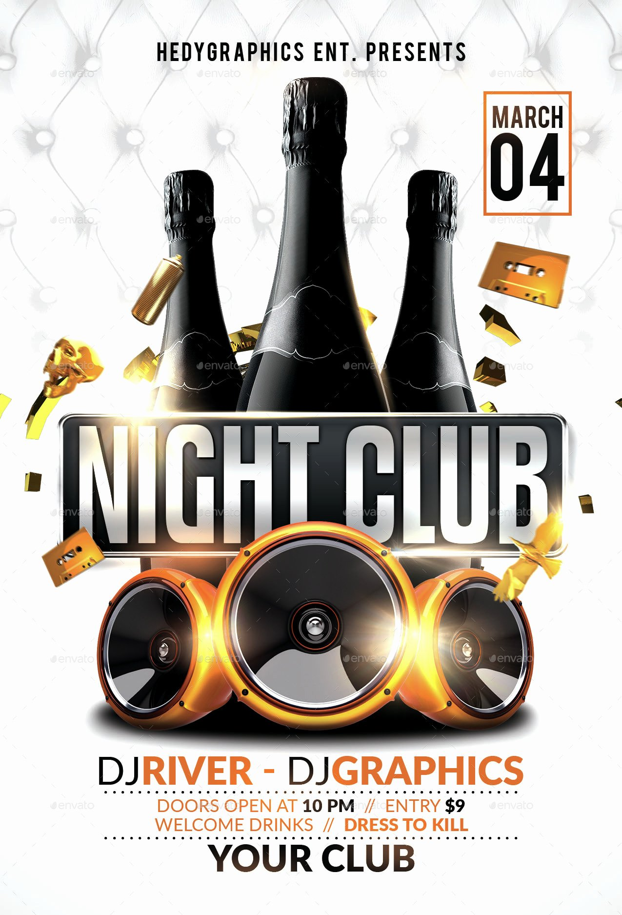 Night Club Flyer Template by Hedygraphics