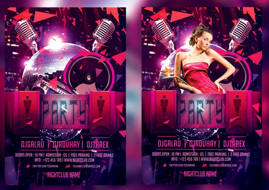 Night Club Flyer Template by Mihaimcm94 On Deviantart
