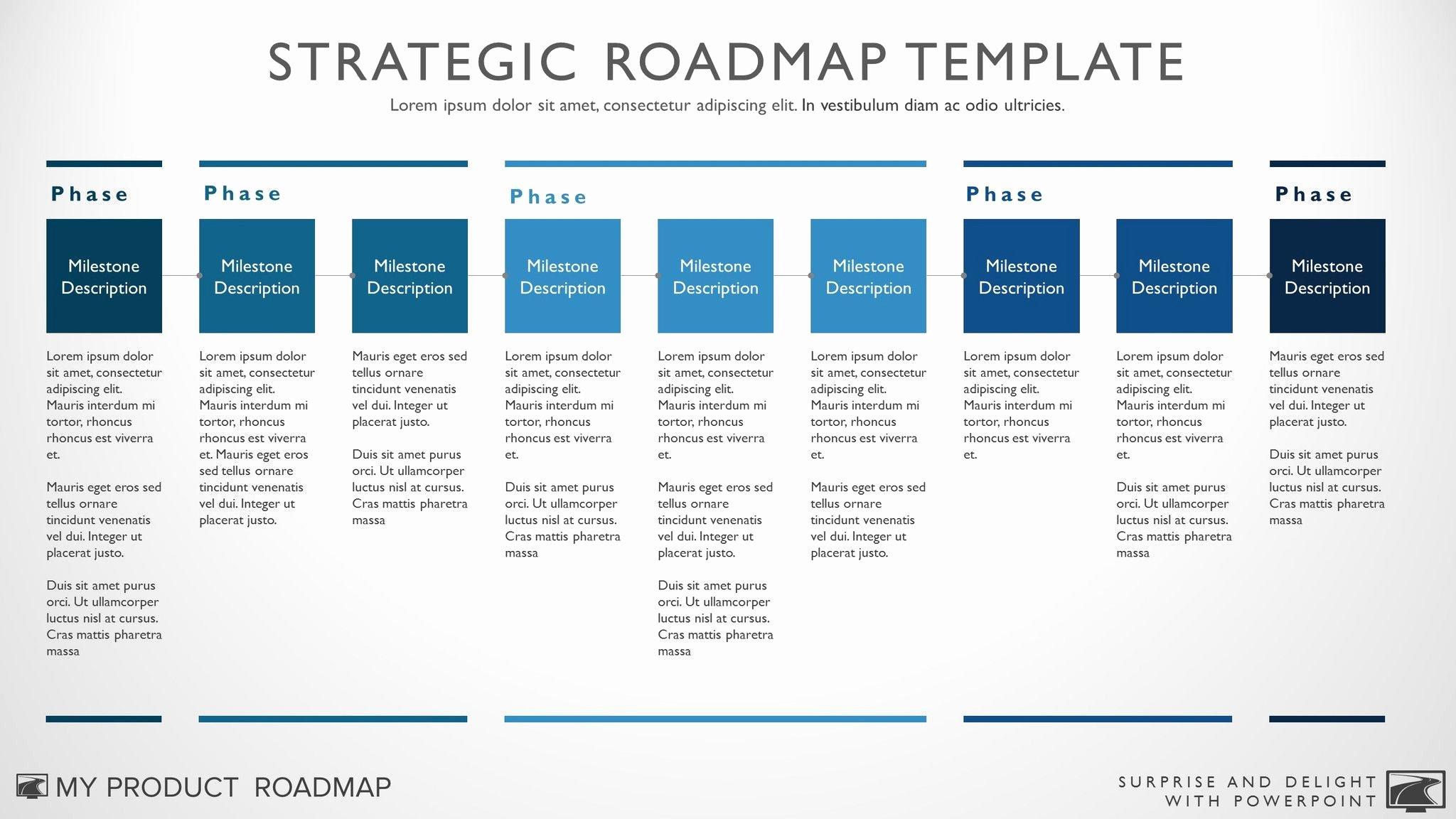 Nine Phase Business Timeline Roadmapping Presentation