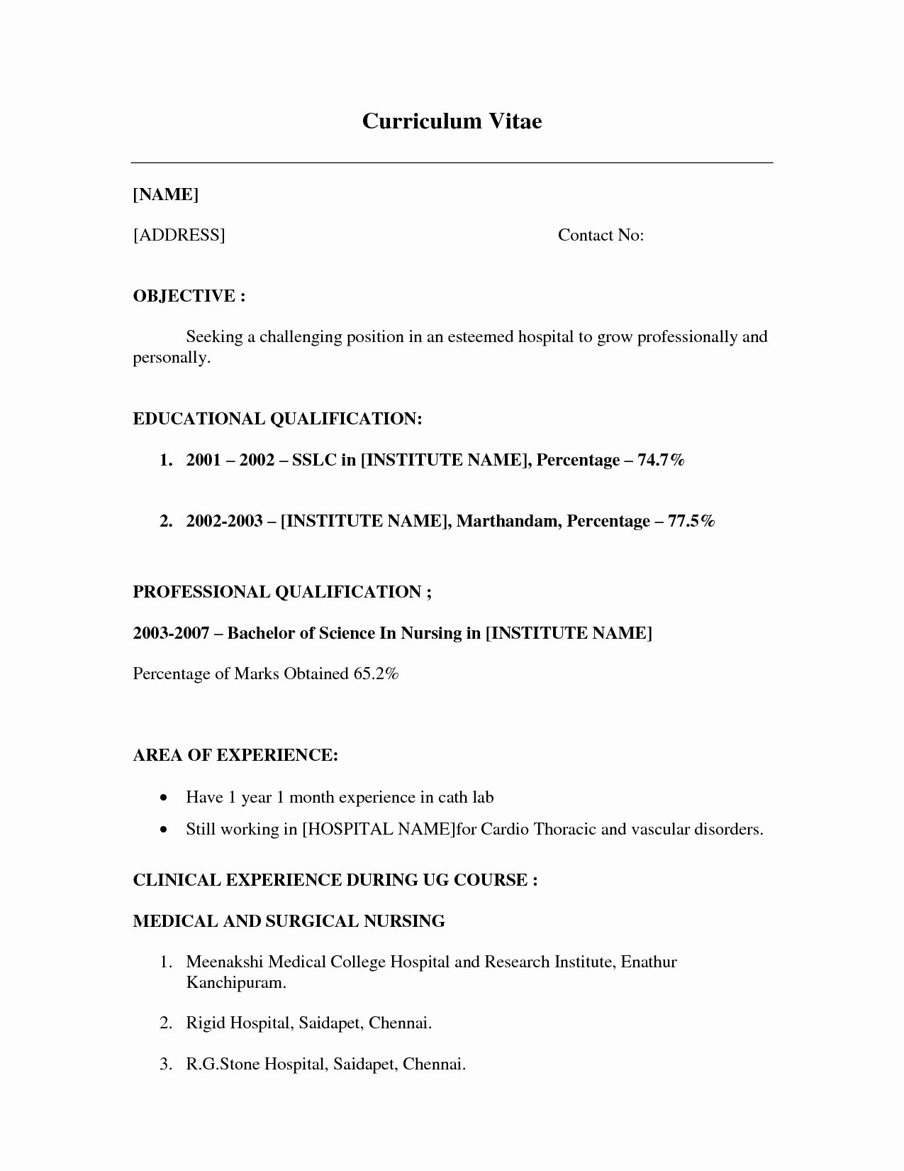 No Work Experience Resume Template Resume Little Work