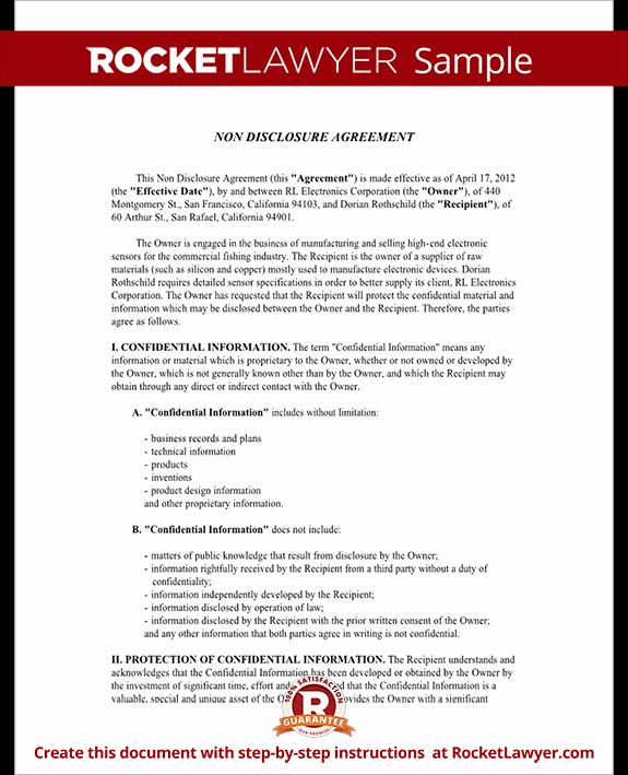 Non Disclosure Agreement Nda form Create A Free Nda form
