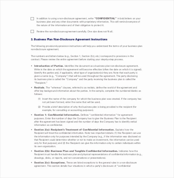 Non Disclosure Agreement Template – 14 Free Word Excel