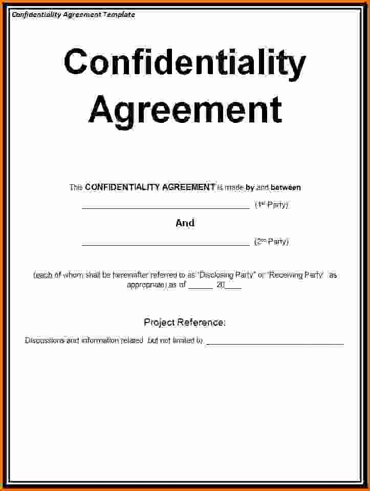 Non Disclosure Agreement Template Wordreference Letters