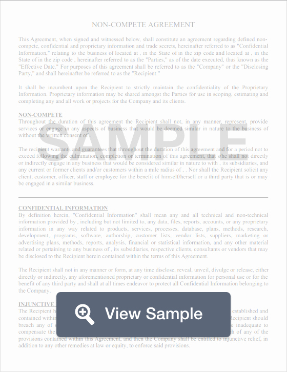Non Pete Agreement Create & Download for Free