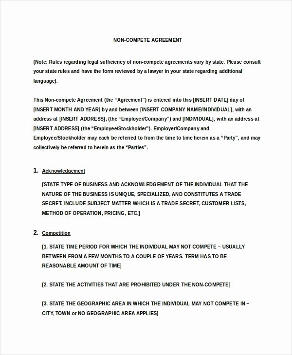 Non Pete Agreement Doc