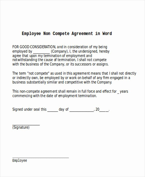 Non Pete Agreement Meaning Agreement Letter format