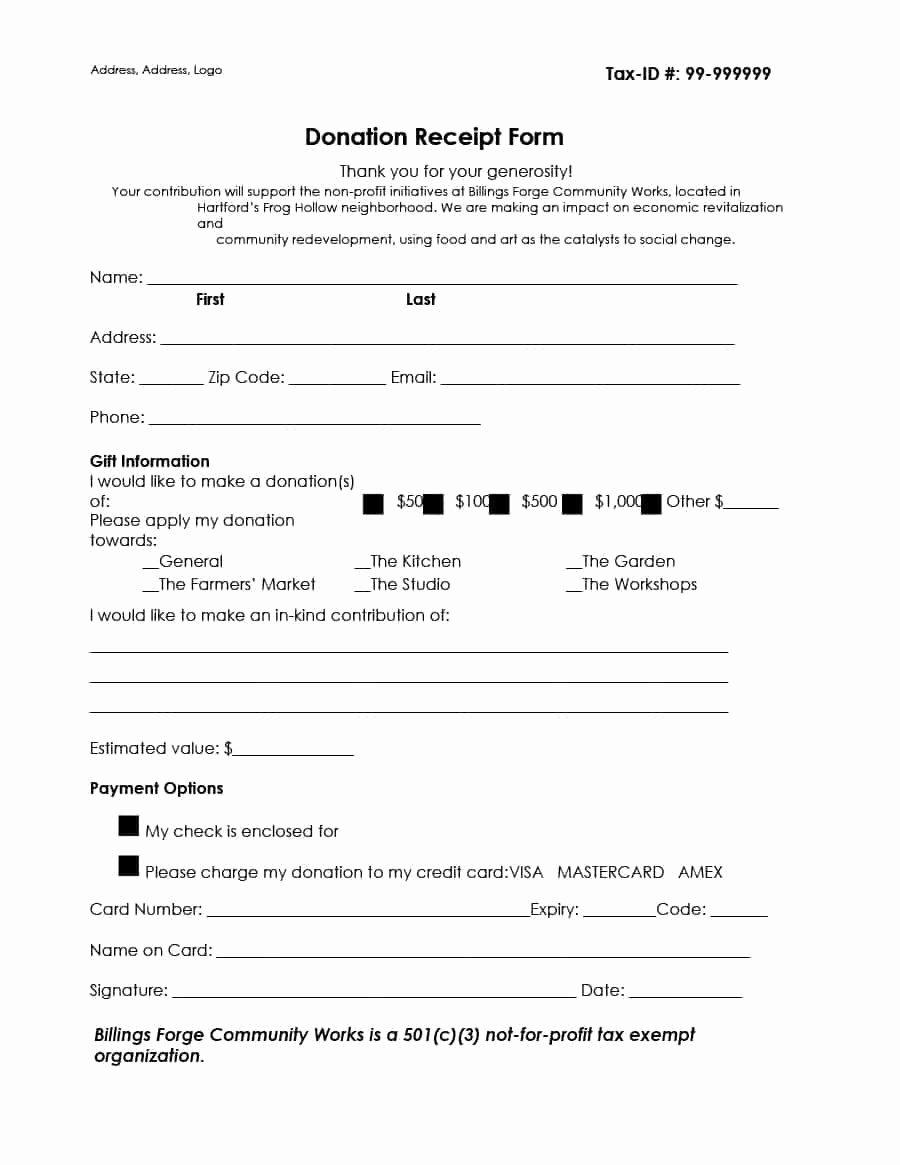 Non Profit Donation Receipt Letter Template Examples
