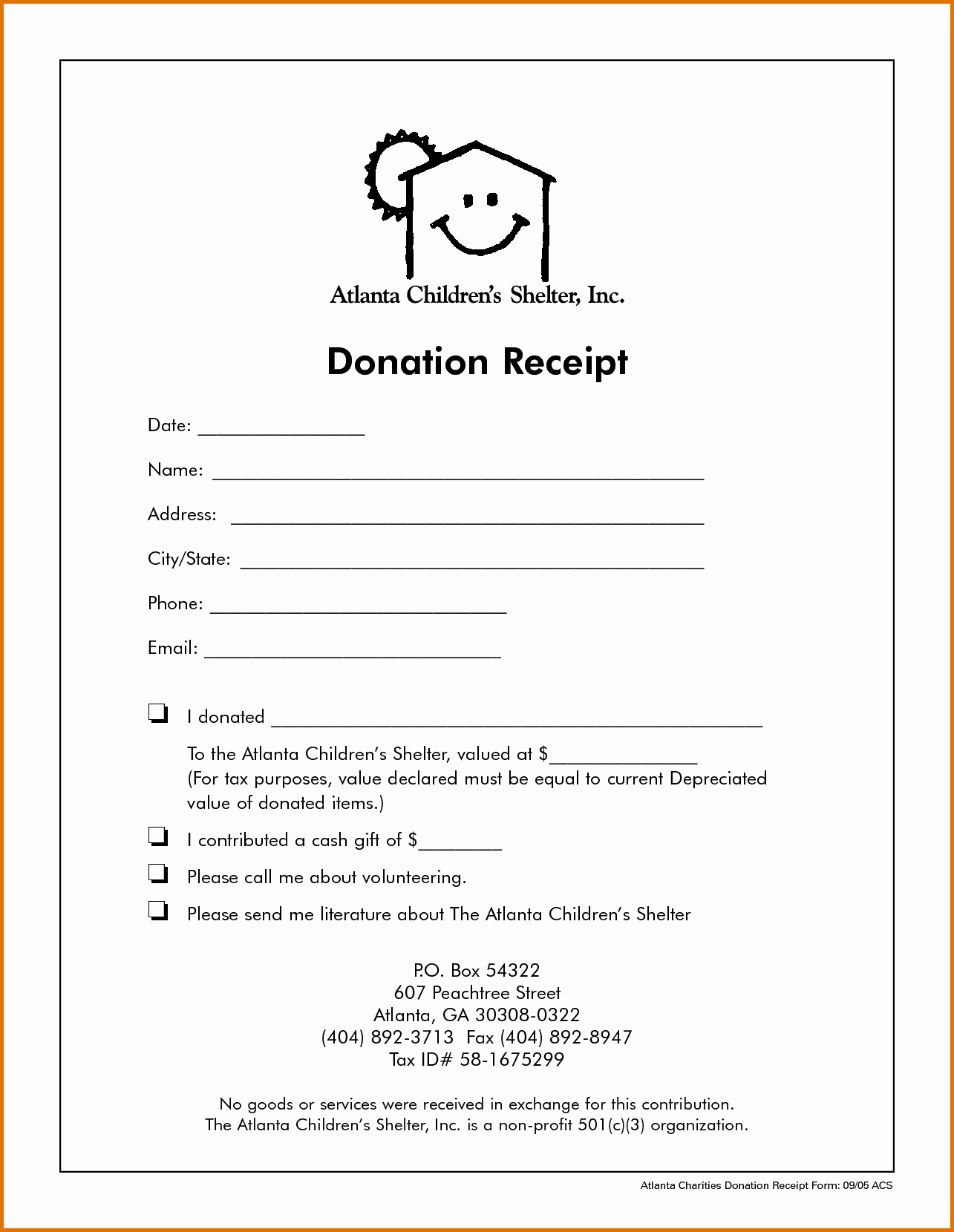 Non Profit Donation Receipt Templatereference Letters