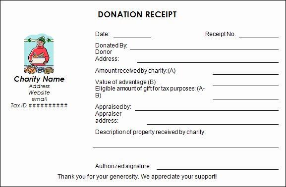 Non Profit Donation Templates Paper Donation Receipt Templates