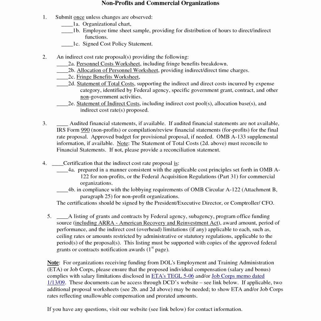Non Profit Financial Statements Template Excel