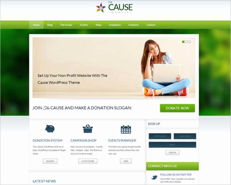 Non Profit HTML Website Templates