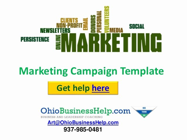 Non Profit Marketing Campaign Template