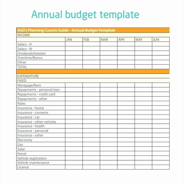 Non Profit Operating Bud Template Excel Spreadsheet for