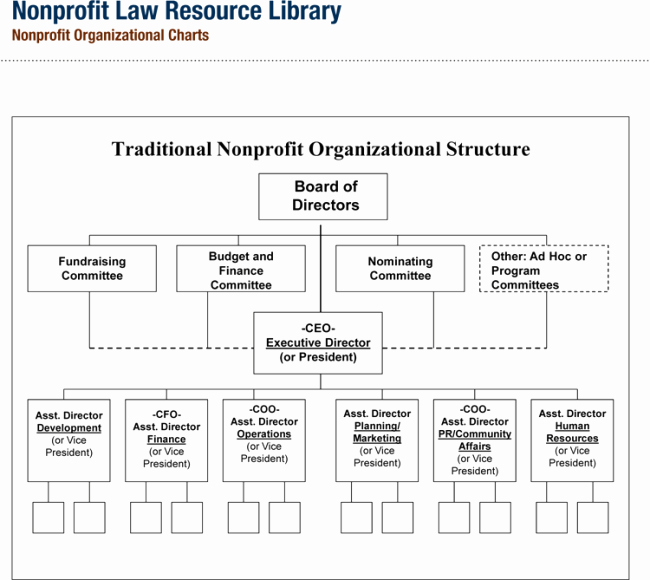 Non Profit organizational Chart 5 Best Samples