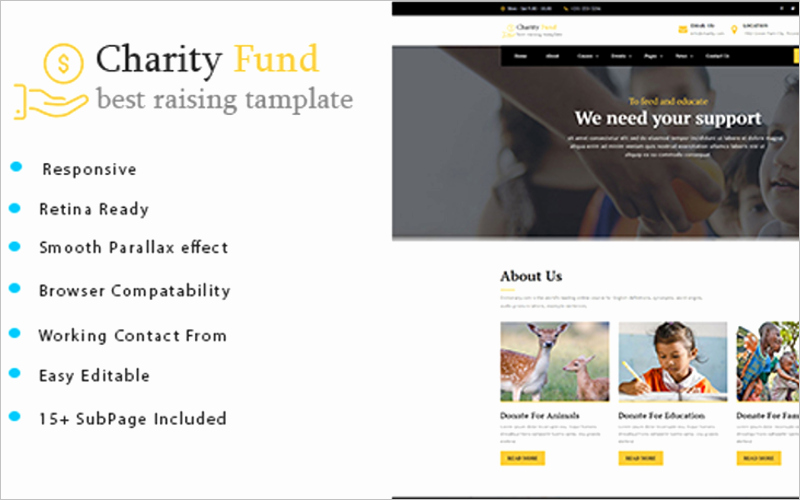 Non Profit Website Templates Image Collections Template
